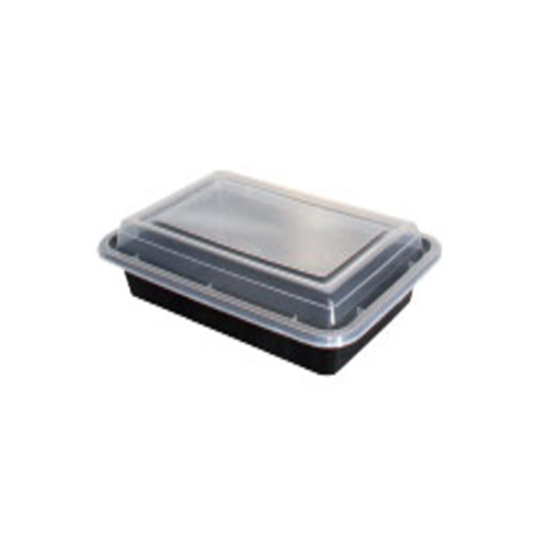 Black Rectangular Container with Lid