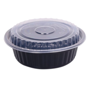 Black Round Container with Lid
