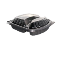 2-Compartment Rectangular Container with Lid
