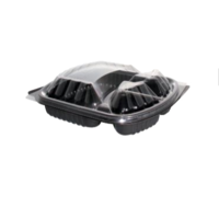 3-Compartment Rectangular Container with Lid