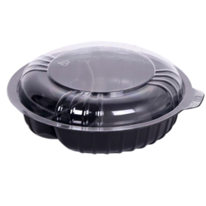 2-Compartment Round Container with Lid