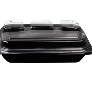 4-Compartment Rectangular Container with Lid