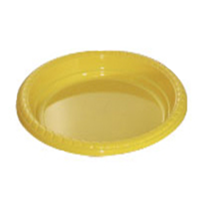 Yellow Plastic Plate