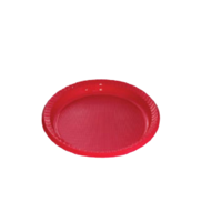 Red Plastic Plate