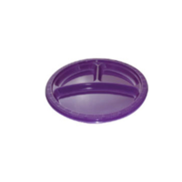 "10"" 3 Compartment Purple Plastic Plate"