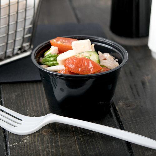 Black Plastic Souffle Cup / Portion Cup | Lid | 2500 pcs
