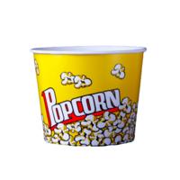 Round Pop Corn Tub 130 Oz