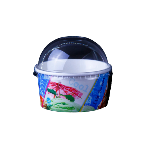 Dome Lids for Ice Cream Cup | 1000 pieces