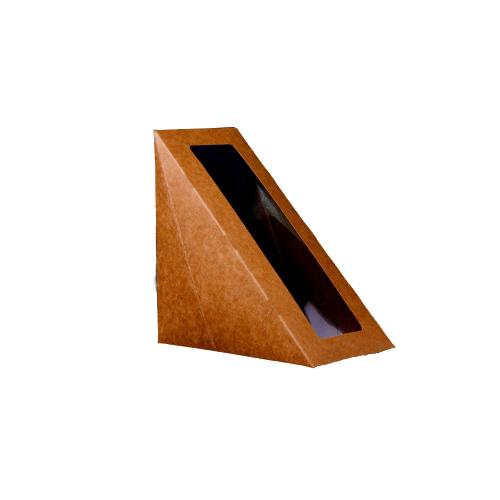 Kraft Sandwich Wedge Box With Window | KSWL |  500 Pieces