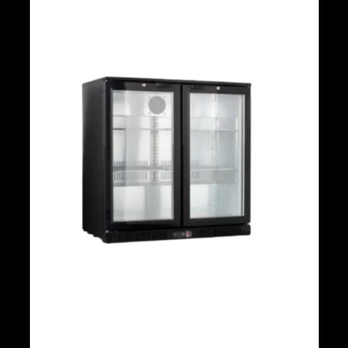 Bar Cooler Chiller Black 2 Hinge Doors | LG-208H - FREE SHIPPING