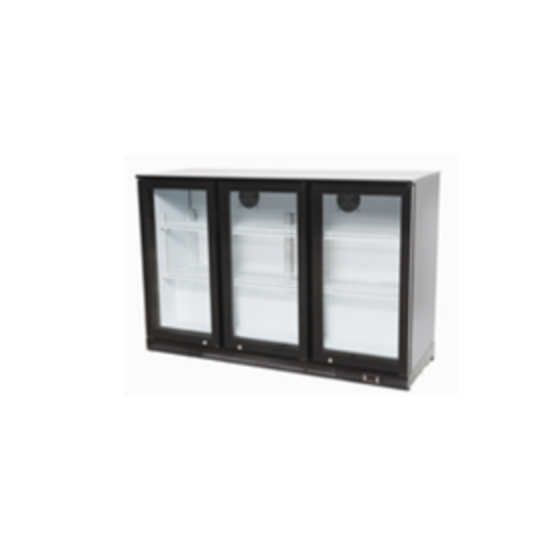 Double Hinged Door Black Bar Cooler | BC03PP | FREE SHIPPING
