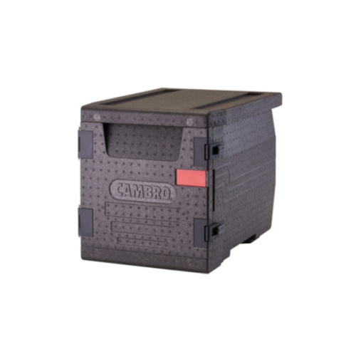 Cambro Cam GoBox® Black Full Size Front Loader Insulated Food Pan Carrier | EPP300110