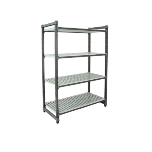 "Cambro Elements Vented 4-Shelf Stationary Starter Unit | Camshelving® | ESU183672V4580 | 18"" x 36"" x 72"""