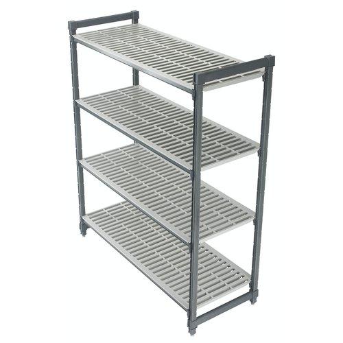 "Cambro Elements Vented 4-Shelf Stationary Starter Unit | Camshelving® | ESU184872V4580 | 18"" x 48"" x 72"""