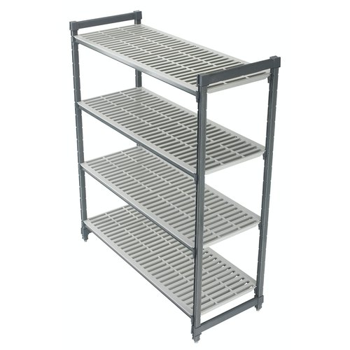 "Cambro Elements Vented 4-Shelf Stationary Starter Unit | Camshelving® | ESU213672V4580 | 21"" x 36"" x 72"""