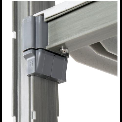 "Cambro Elements Vented 4-Shelf Stationary Starter Unit | Camshelving® | ESU214872V4580 | 21"" x 48"" x 72"""