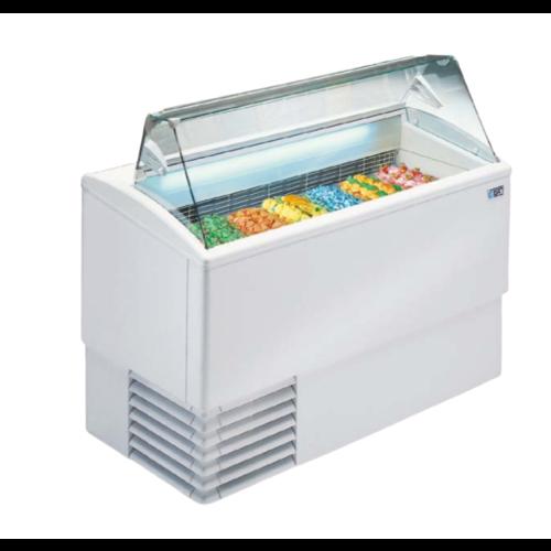 ISA Ice cream display chiller Flat Glass | ISETTA-4R STD + 4 LT5 | FREE SHIPPING