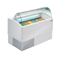 Ice cream display chiller Curved Glass | FREE SHIPPING