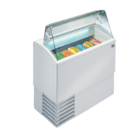 Ice cream display chiller Flat Glass | FREE SHIPPING