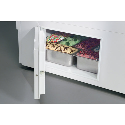 ISA Ice cream display chiller Curved Glass | ISETTA-9R LX  + 9 LT5 | FREE SHIPPING