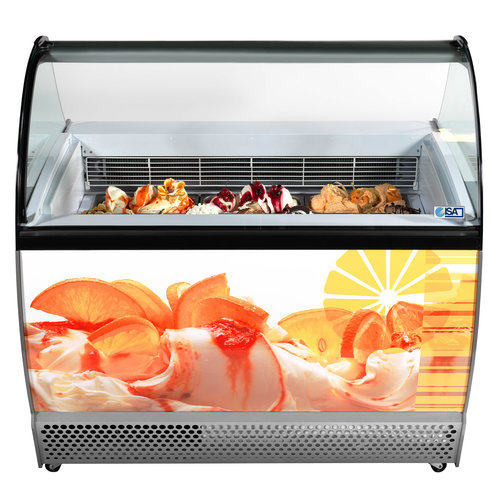 ISA Ice cream display chiller Flat Glass | ISABELLA LX  13 RS | FREE SHIPPING