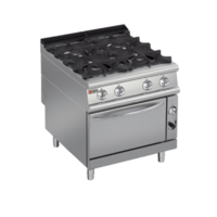 Gas Range 4 Burners On Gas Oven |  PCF-G800 | FREE SHIPPING