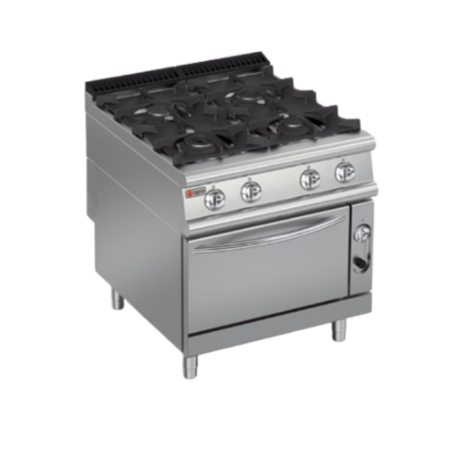 Baron Gas Range 4 Burners On Gas Oven |  PCF-G800 | FREE SHIPPING