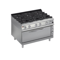 Burner Gas Range with Large Oven | Q70PCFL/G1206 | FREE SHIPPING