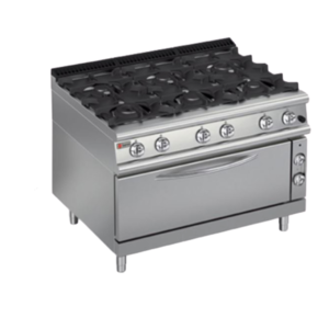 Baron Burner Gas Range with Large Oven | Q70PCFL/G1206 | FREE SHIPPING