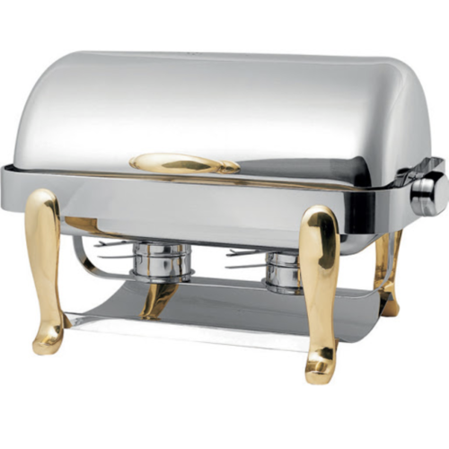 Tiger Hotel EURI Oblong Chafing Dish with Brass Legs - TIG-1271D-BOO
