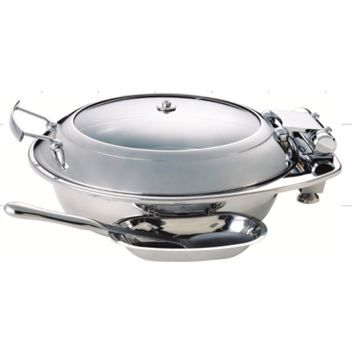 Tiger Hotel MEDIUM Smart Round Chafing Dish with Glass Lid