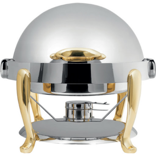 Tiger Hotel EURI Round Chafing Dish with Brass Legs (LARGE) - TIG-1281D-BOO