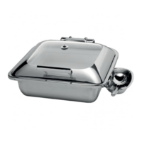 Smart square chafing dish with glass lid