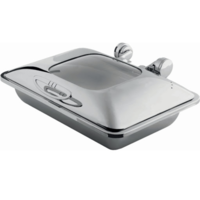 Smart W oblong chafing dish with glass lid