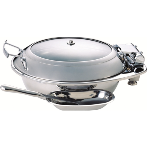 Tiger Hotel LARGE Smart Round Chafing Dish with Glass Lid