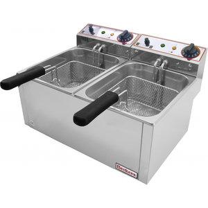 Beckers Electric Deep Fryer FR 6+6 LT | FREE SHIPPING