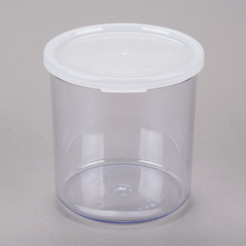 Cambro Clear Colour  Round Crock with Lid |  1.1LTR  | CCP12152