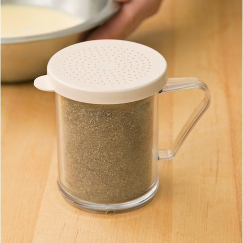 Cambro Shaker with Beige Lid for Salt and Pepper