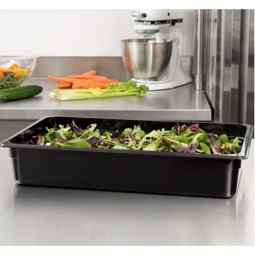 Cambro Full Size Black Polycarbonate Food Pan| Camwear | Different Pan Depth