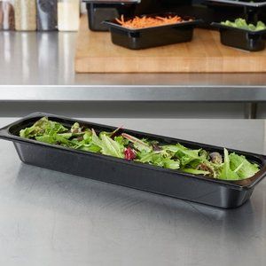 Cambro 1/2 Size Long Black Polycarbonate Food Pan