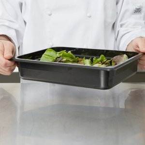 Cambro 1/2 Size Black Polycarbonate Food Pan