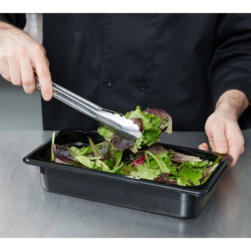 Cambro 1/3 Size Black Polycarbonate Food Pan