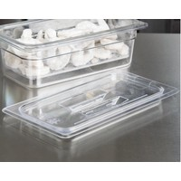 1/3 Size Clear Polycarbonate Handled Lid