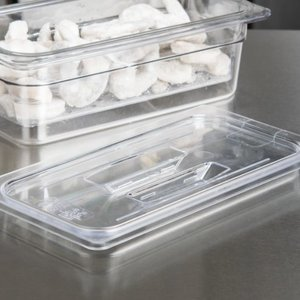 Cambro 1/3 Size Clear Polycarbonate Handled Lid