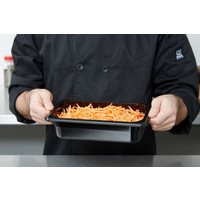 1/4 Size Black Polycarbonate Food Pan