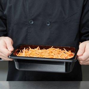 Cambro 1/4 Size Black Polycarbonate Food Pan