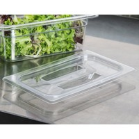 1/4 Size Clear Polycarbonate Handled Lid
