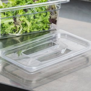 Cambro 1/4 Size Clear Polycarbonate Handled Lid