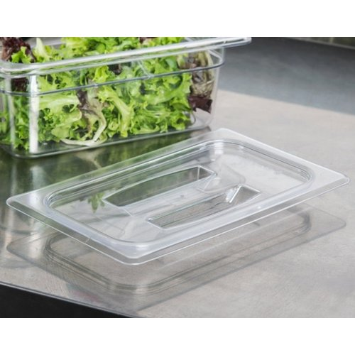 Cambro 1/4 Size Clear Polycarbonate Handled Lid | 40CWCH135 | Camwear