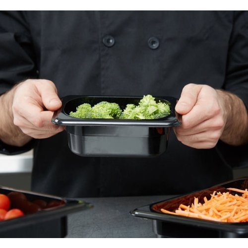 Cambro 1/9 Size Black Polycarbonate Food Pan